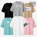남녀공용/5부/오버핏/반팔티/나시티/프린트/티셔츠