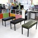 사계절공간연출 엠보2인보조의자 대기용간이의자