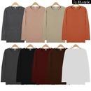 (YG)기모라운드티 맨투맨 티셔츠 라운드 기본 가을 겨울/ H스타일