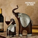 모던브라운 코끼리조각 2P 세트