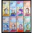 베네수엘라 지폐 2018년 500볼리바르 등 8종 세트 일괄