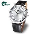 네파  NEPA 공용 남성 정장 가죽 손목시계 N3002