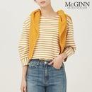 McGINN 단독할인  매긴나잇브릿지 볼륨슬리브 스트라이프 티셔츠_MJS1TS6620