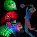 배드민턴 밝게 빛나는 깃털재질  LED 야광 셔틀콕 5P